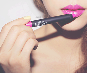 lips, pink, and girl image
