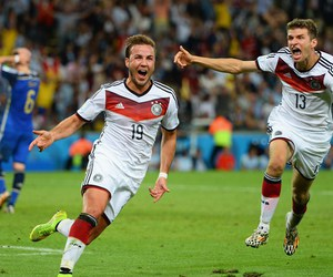 germany, mario gotze, and world cup image
