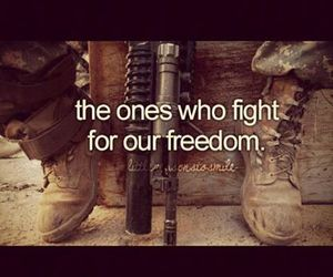 freedom, army, and fight image