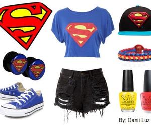 bracelet, clothes, and superman image