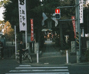 bike, road, and japan image