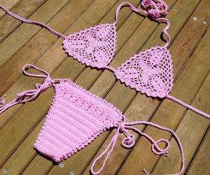 bikini, crochet, and bikini top image