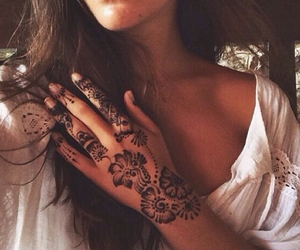 henna, tattoo, and girl image