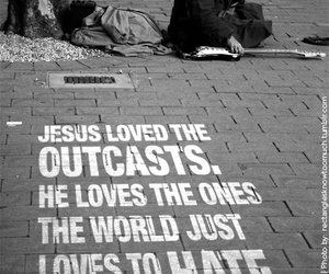 jesus, love, and outcast image