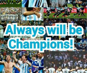 argentina, messi, and champions image