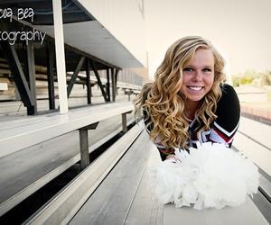 blonde, cheerleader, and girl image