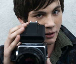 logan lerman, camera, and boy image