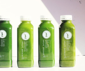 green, healthy, and juices image