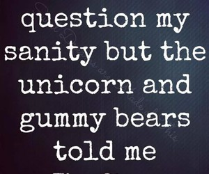 unicorn, funny, and sanity image