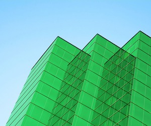 buildings and green image