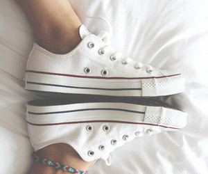 adorable, bed, and converse image