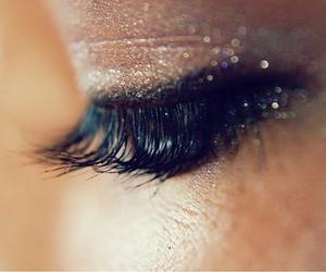eyelash, eyeliner, and glitter image