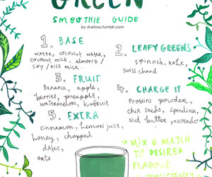 green, green smoothie, and health image