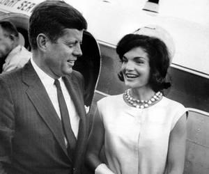 Jackie Kennedy, JFK, and couple image