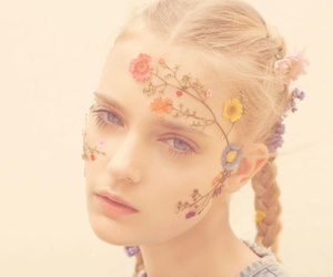 flowers, girl, and model image