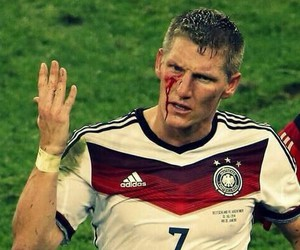 blood, schweinsteiger, and sexy image