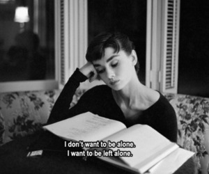 alone, audrey hepburn, and beauty image