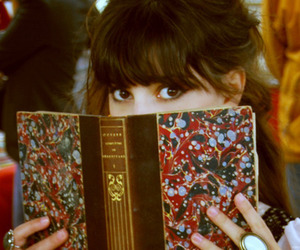 book, girl, and eyes image