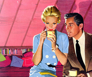 vintage, couple, and Pin Up image