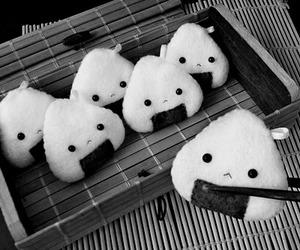 food, onigiri, and kawaii image