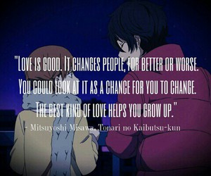 anime, love, and quote image