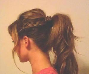 braids, hair, and brown image