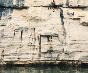 climbing, nature, and rock climbing image