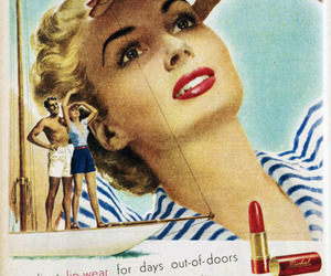 1940s, advertisement, and lipstick image