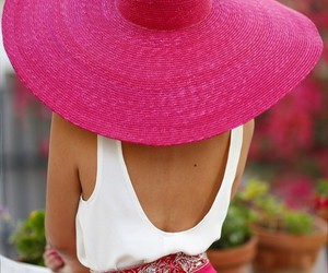 pink, fashion, and hat image