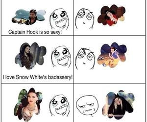 snow white, captain hook, and oncers image