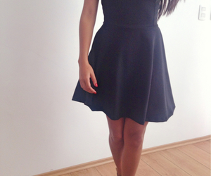 black dress, dress, and girly image