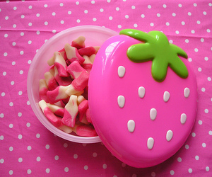pink, strawberry, and candy image
