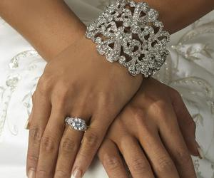 bracelet, satin, and diamonds image