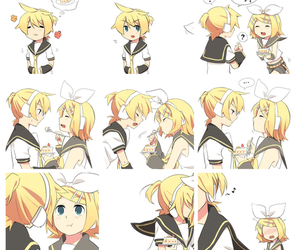 vocaloid, kagamine twins, and cute image