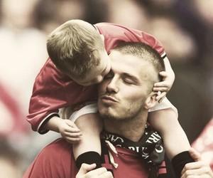 David Beckham, brooklyn beckham, and father image