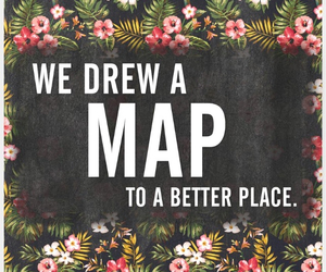 map, maroon 5, and song image