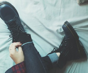 boots, grunge, and black image