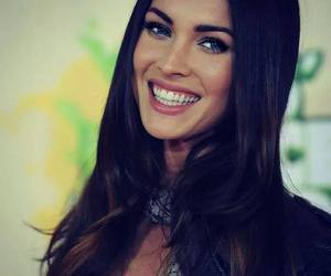 megan fox, smile, and black and white image