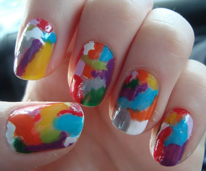 girl, nail art, and art image