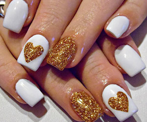 nails, white, and hearts image