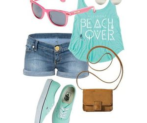 outfit, beach, and blue image