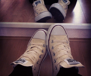 all stars, converse, and yellow image
