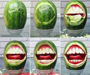 watermelon, funny, and fruit image