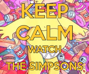 calm, keep, and the simpsons image