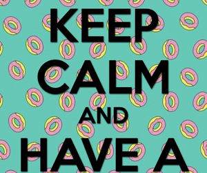 donut and keep and calm image