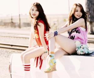 girl's day, yura, and minah image