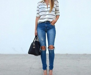 jeans, outfit, and fashion image