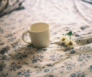 vintage, flowers, and bed image