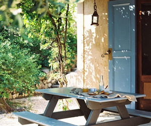 breakfast, Greece, and garden image