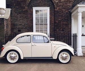 vintage, white, and car image